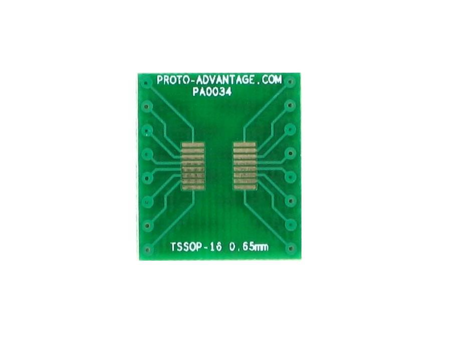 TSSOP-16 to DIP-16 SMT Adapter (0.65 mm pitch) 2