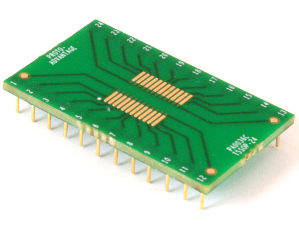 TSSOP-24 to DIP-24 SMT Adapter (0.65 mm pitch) Compact Series 0