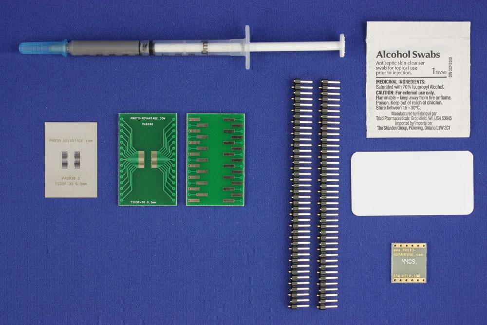TSSOP-30 (0.5 mm pitch) PCB and Stencil Kit 0