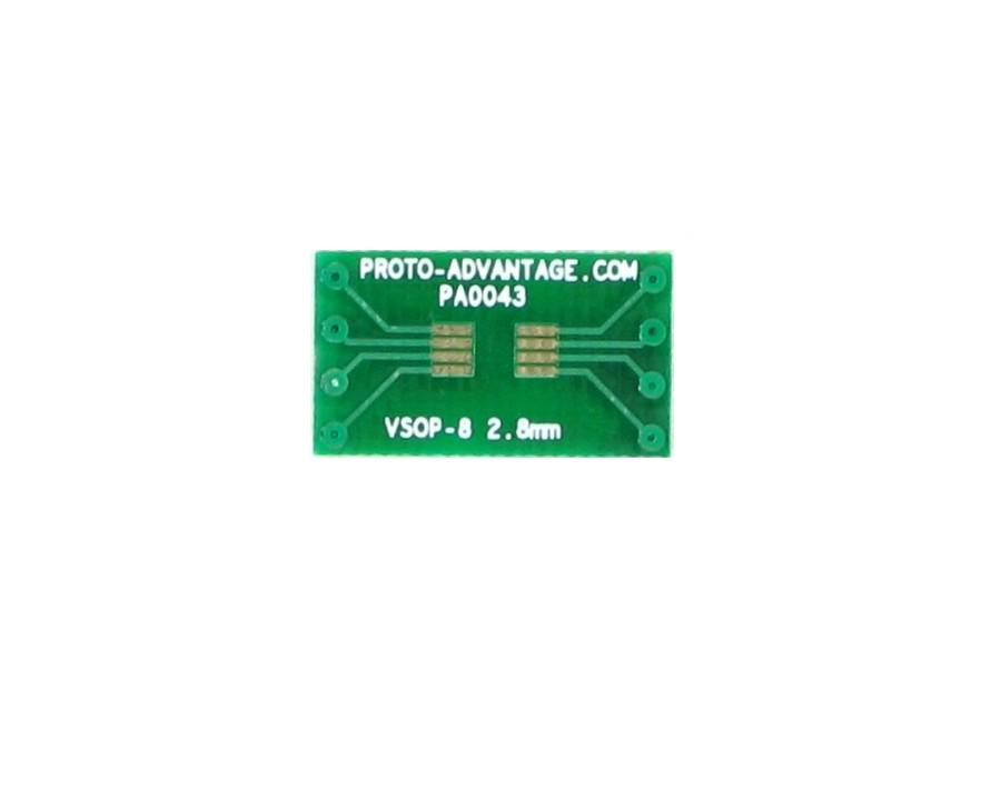 VSOP-8 to DIP-8 SMT Adapter (0.65 mm pitch, 2.8 mm body) 2