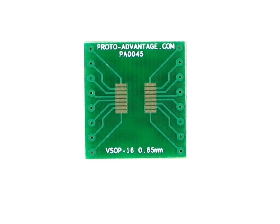 VSOP-16 to DIP-16 SMT Adapter (0.65 mm pitch, 4.4 mm body) 2