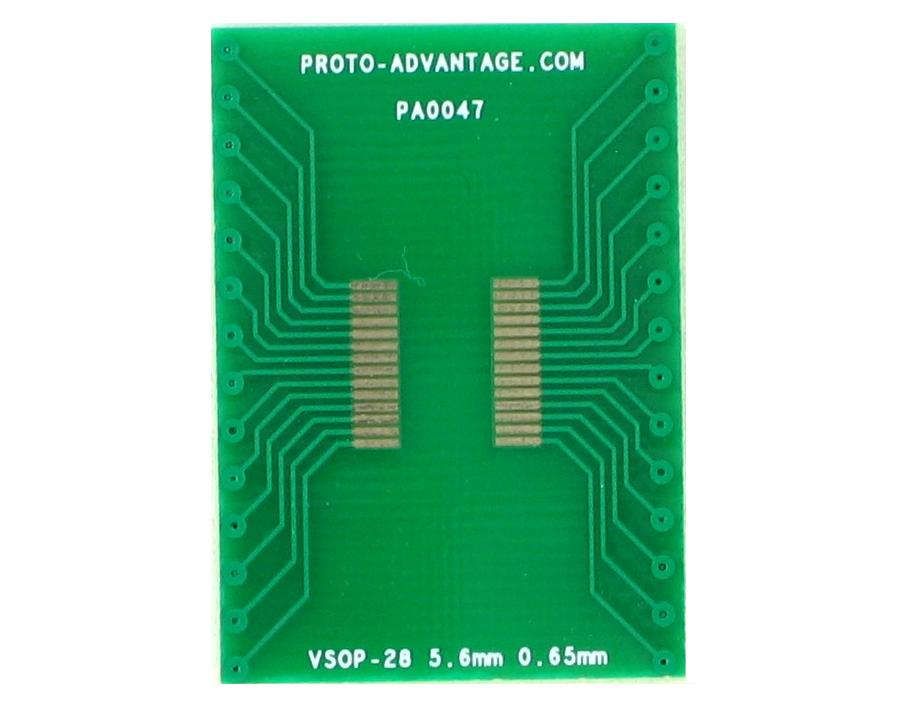 VSOP-28 to DIP-28 SMT Adapter (0.65 mm pitch, 5.6 mm body) 2