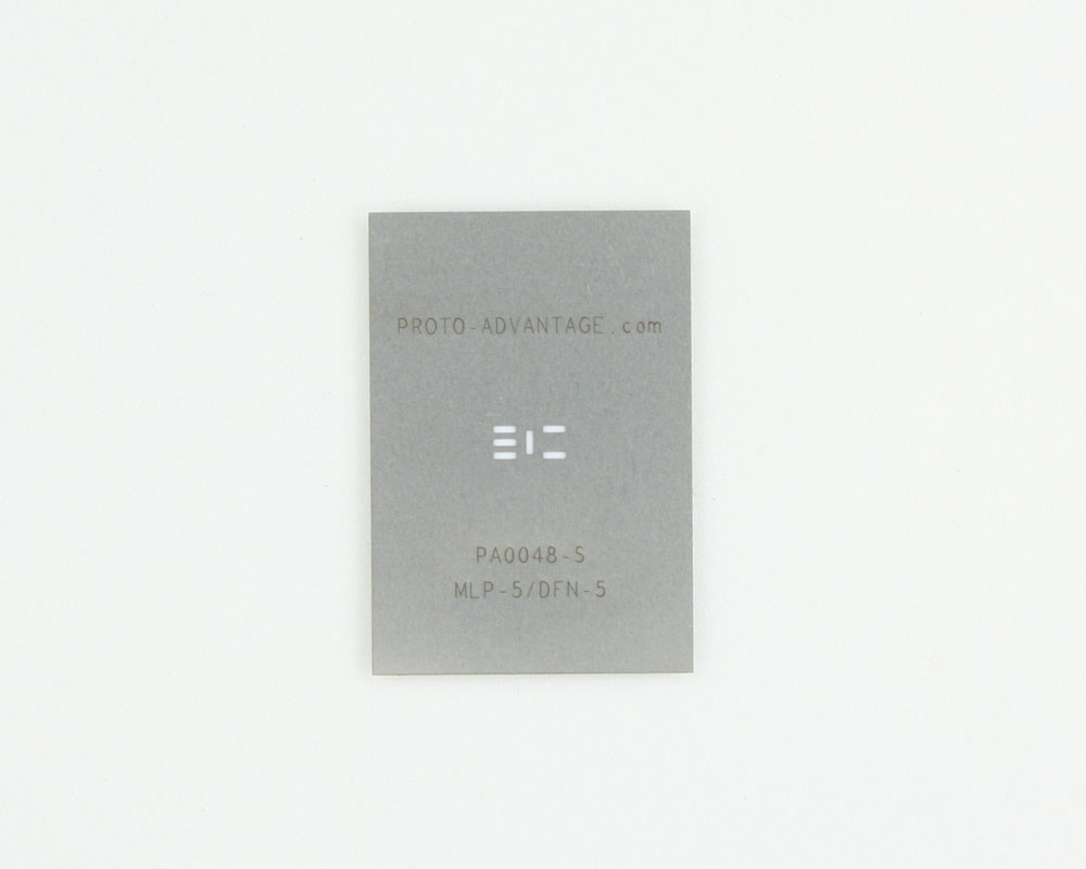 MLP/DFN-5 (0.95 mm pitch, 3 x 3 mm body) Stainless Steel Stencil 0