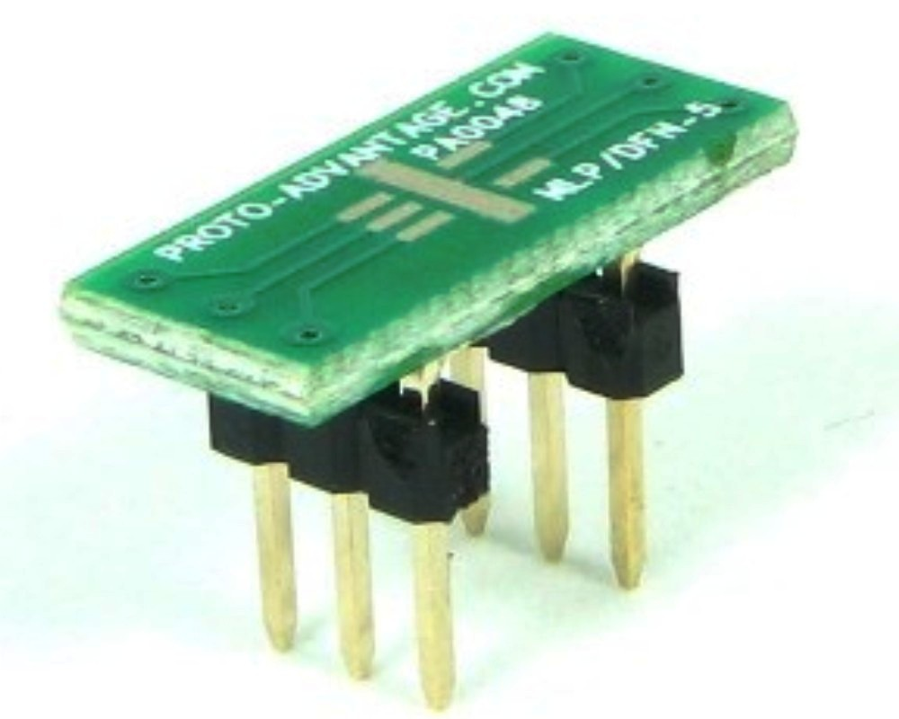 MLP/DFN-5 to DIP-6 SMT Adapter (0.95 mm pitch, 3 x 3 mm body) 0