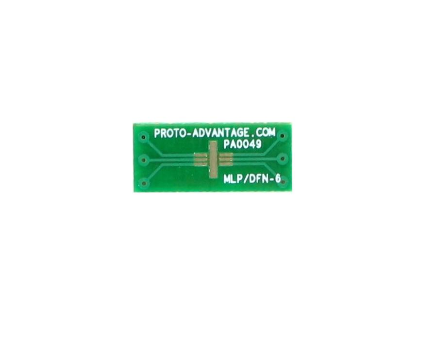 MLP/DFN-6 to DIP-6 SMT Adapter (0.5 mm pitch, 2 x 2 mm body) 2