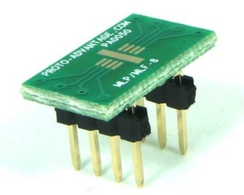 MLP/MLF-8 to DIP-8 SMT Adapter (0.65 mm pitch, 3 x 3 mm body) 0