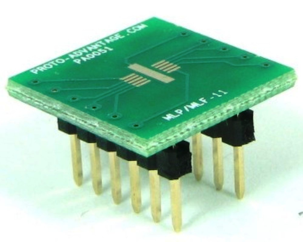 MLP/MLF-11 to DIP-12 SMT Adapter (0.5 mm pitch, 3 x 3 mm body) 0