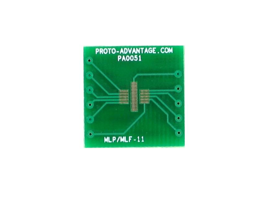 MLP/MLF-11 to DIP-12 SMT Adapter (0.5 mm pitch, 3 x 3 mm body) 2