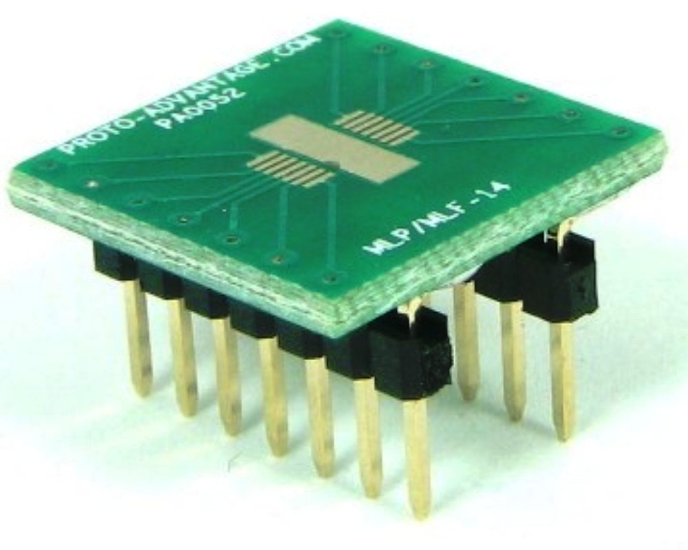 MLP/MLF-14 to DIP-14 SMT Adapter (0.5 mm pitch, 5 x 4 mm body) 0
