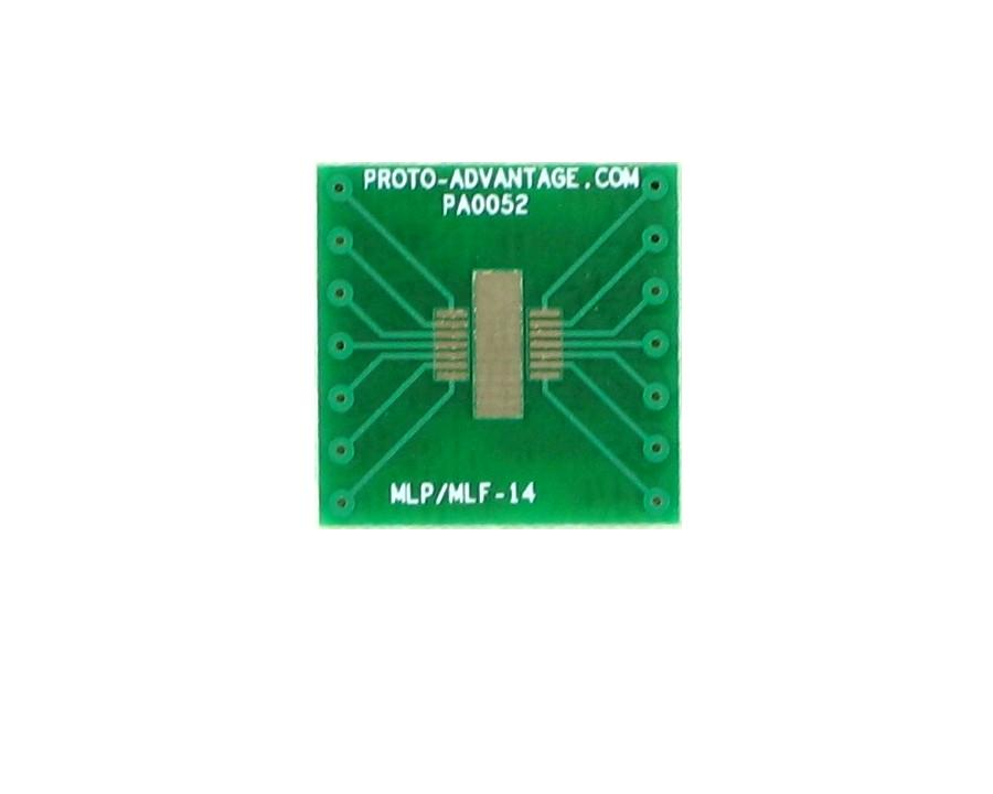 MLP/MLF-14 to DIP-14 SMT Adapter (0.5 mm pitch, 5 x 4 mm body) 2