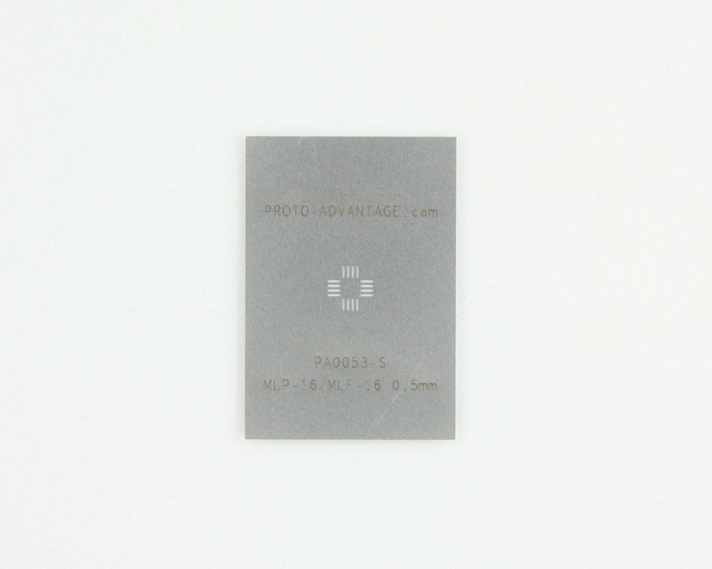 MLP/MLF-16 (0.5 mm pitch, 3 x 3 mm body) Stainless Steel Stencil 0
