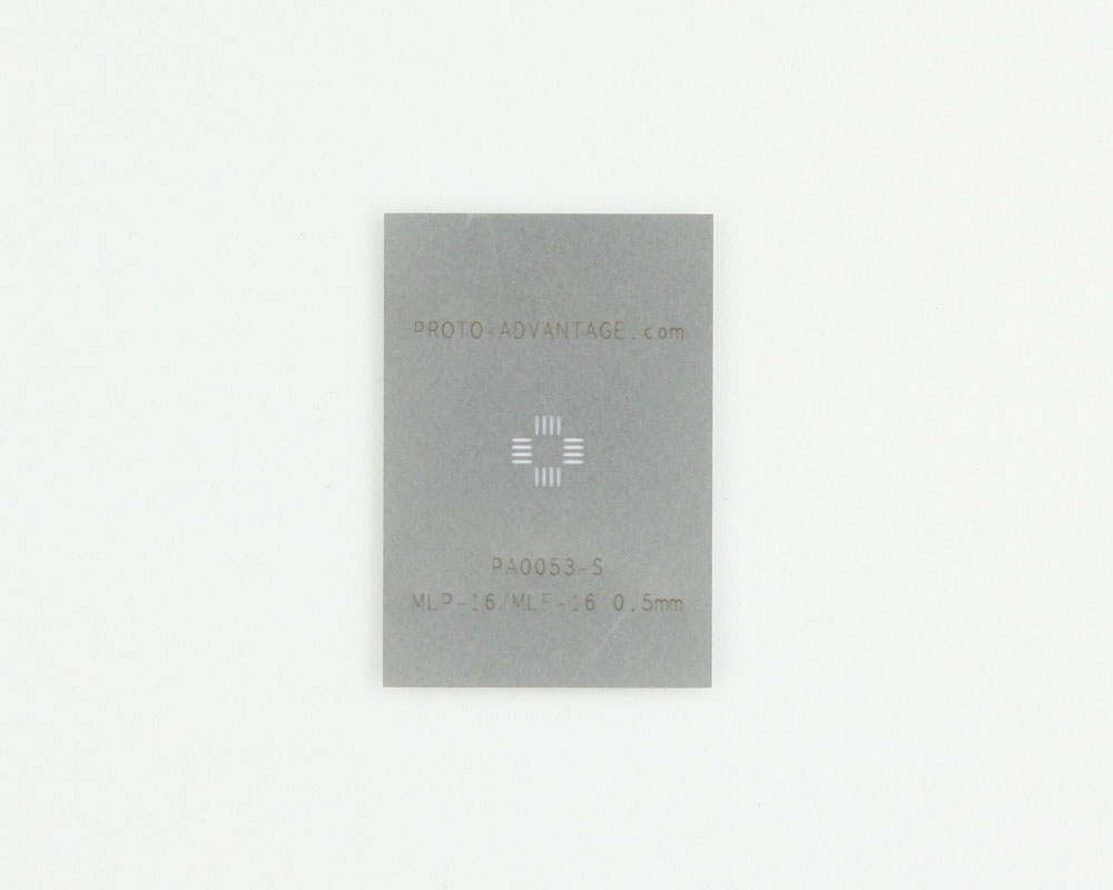MLP/MLF-16 (0.5 mm pitch, 3 x 3 mm body) Stainless Steel Stencil 0
