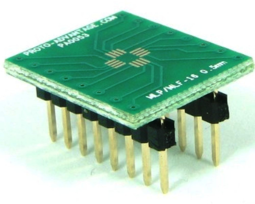 MLP/MLF-16 to DIP-16 SMT Adapter (0.5 mm pitch, 3 x 3 mm body) 0