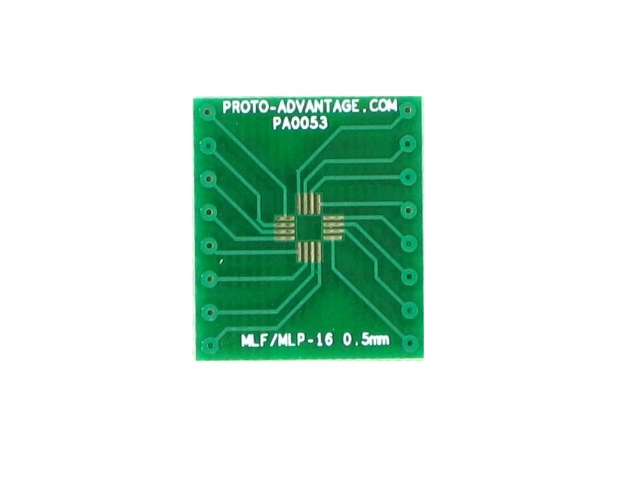 MLP/MLF-16 to DIP-16 SMT Adapter (0.5 mm pitch, 3 x 3 mm body) 2