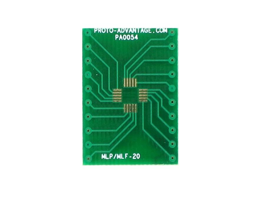 MLP/MLF-20 to DIP-20 SMT Adapter (0.5 mm pitch, 4 x 4 mm body) 2