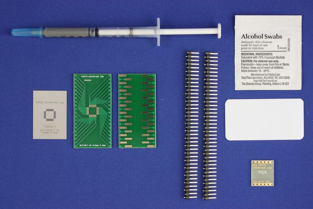 MLP/MLF-40 (0.5 mm pitch, 6 x 6 mm body) PCB and Stencil Kit 0