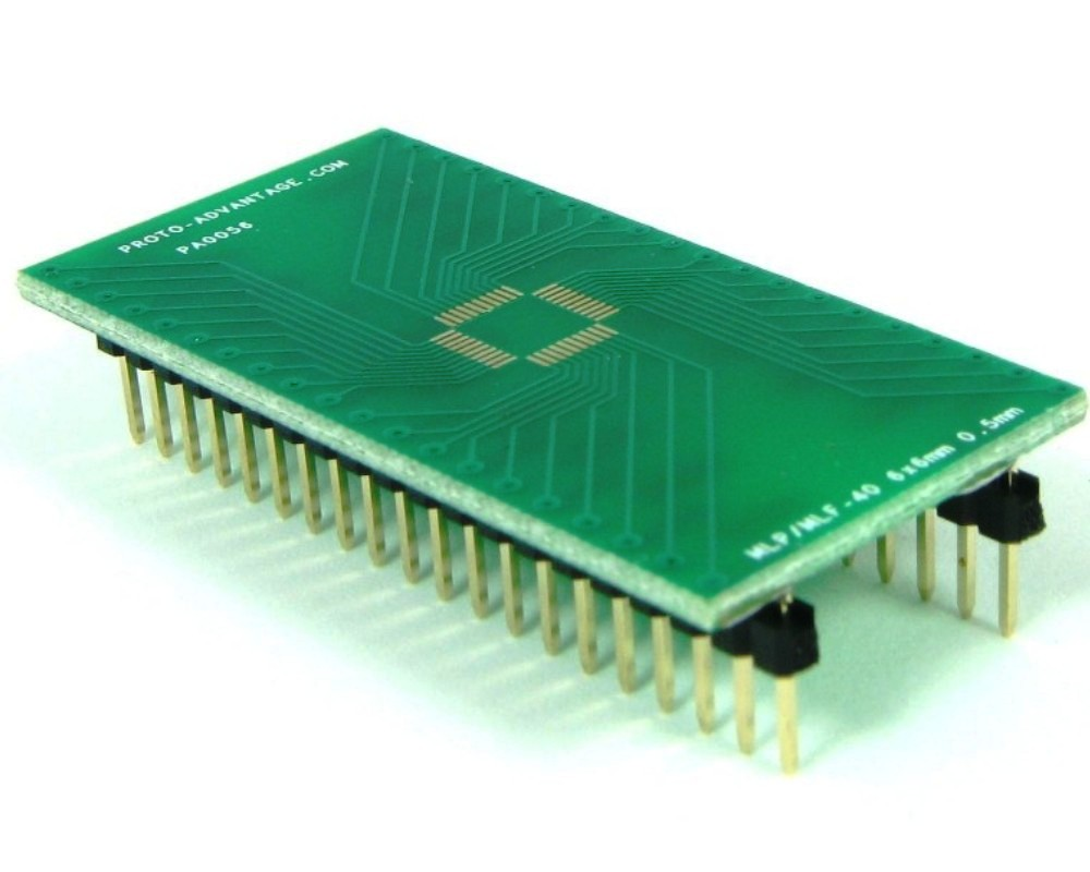 MLP/MLF-40 to DIP-40 SMT Adapter (0.5 mm pitch, 6 x 6 mm body) 0