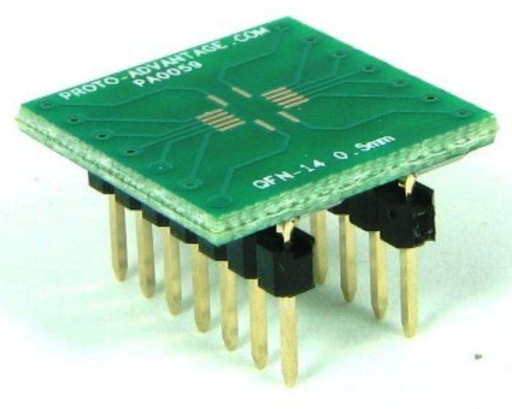 QFN-14 to DIP-14 SMT Adapter (0.5 mm pitch, 3.5 x 3.5 mm body) 0