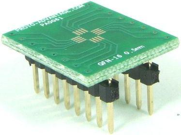QFN-16 (0.5 mm pitch, 3 x 3 mm body) 0