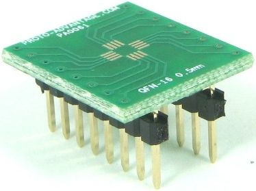 QFN-16 (0.5 mm pitch, 3 x 3 mm body) 0