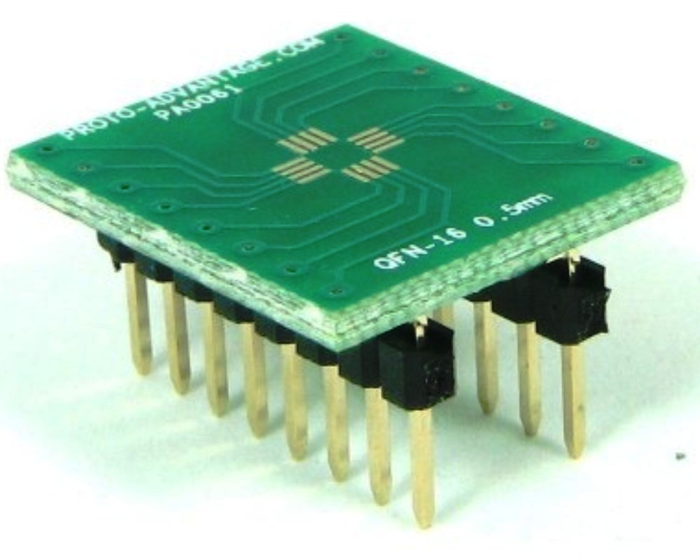 QFN-16 to DIP-16 SMT Adapter (0.5 mm pitch, 3 x 3 mm body) 0
