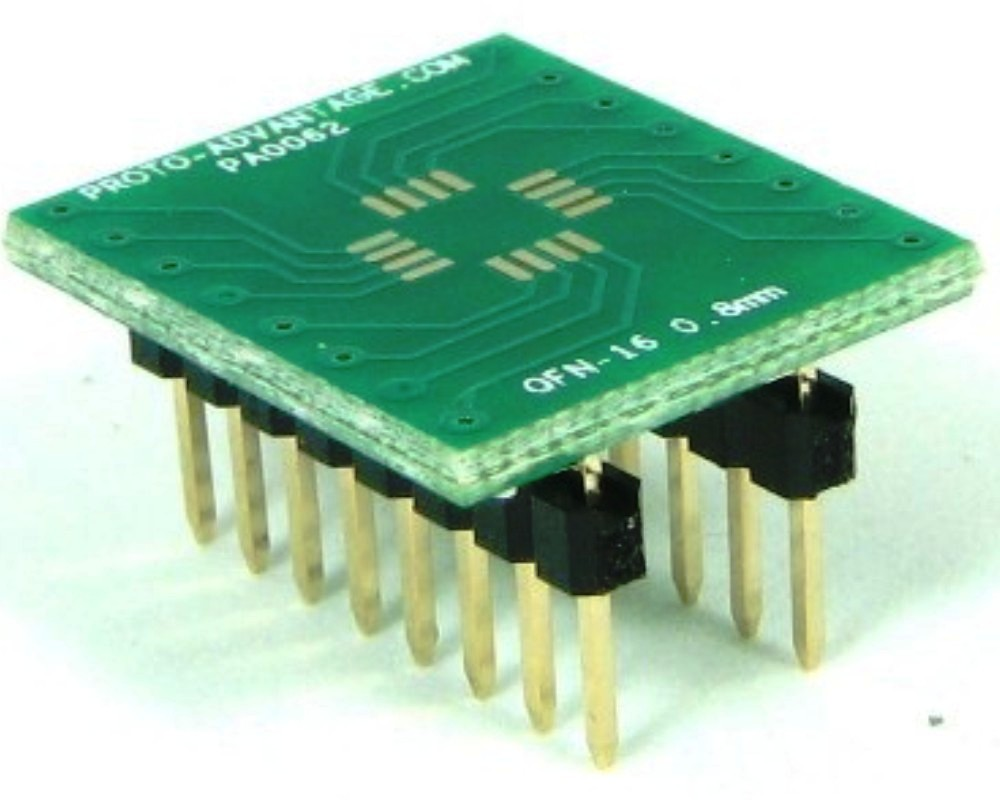 QFN-16 to DIP-16 SMT Adapter (0.8 mm pitch, 5 x 5 mm body) 0