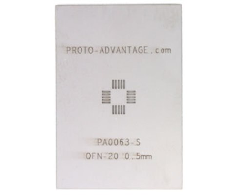 QFN-20 (0.5 mm pitch, 4 x 4 mm body) Stainless Steel Stencil 0