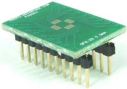 QFN-20 (0.5 mm pitch, 4 x 4 mm body) 0