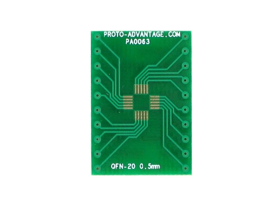 QFN-20 to DIP-20 SMT Adapter (0.5 mm pitch, 4 x 4 mm body) 2