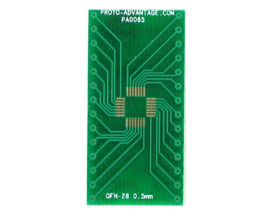 QFN-28 to DIP-28 SMT Adapter (0.5 mm pitch, 5 x 5 mm body) 2