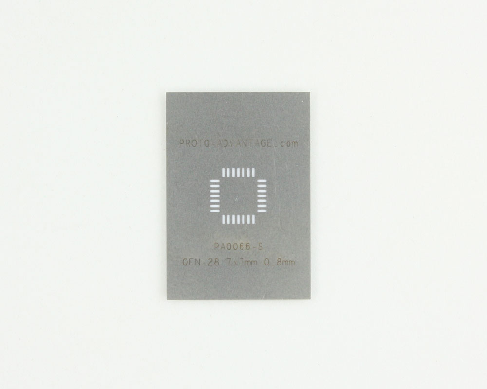 LFCSP-28 (0.8 mm pitch, 7 x 7 mm body) Stainless Steel Stencil 0