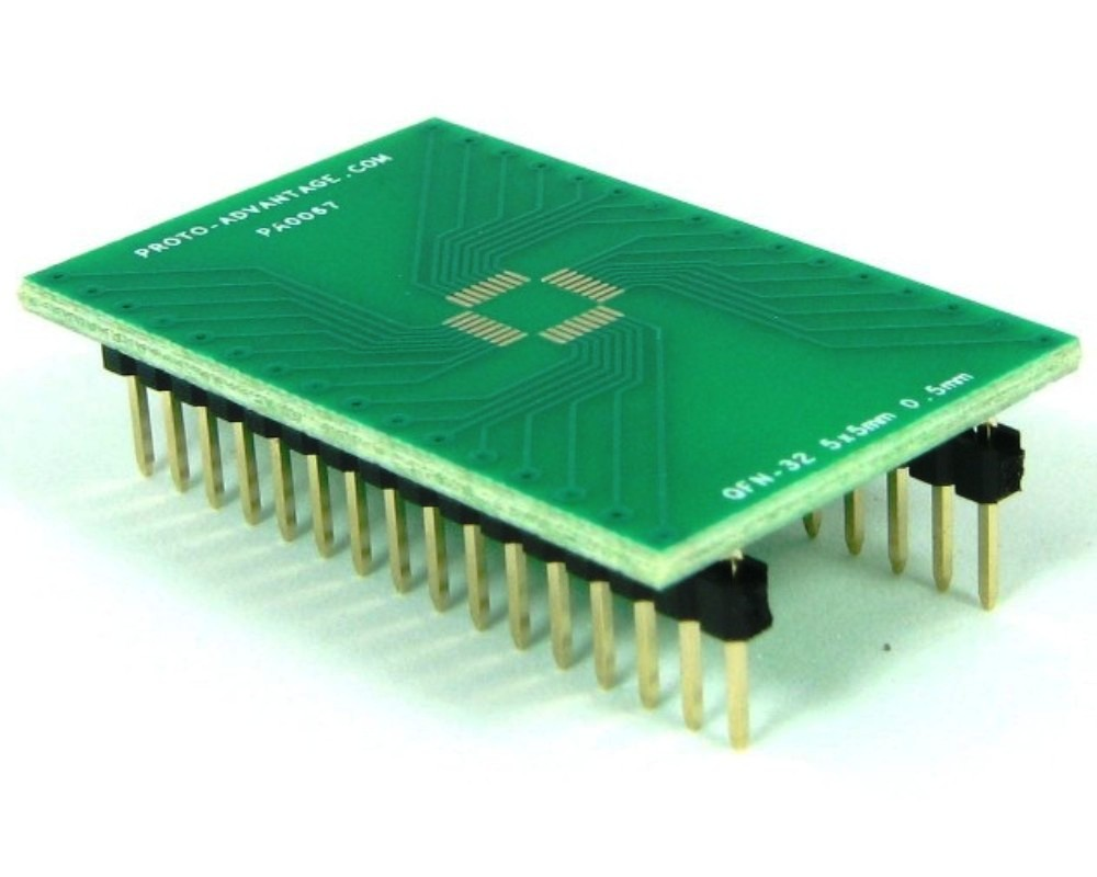 QFN-32 to DIP-32 SMT Adapter (0.5 mm pitch, 5 x 5 mm body) 0