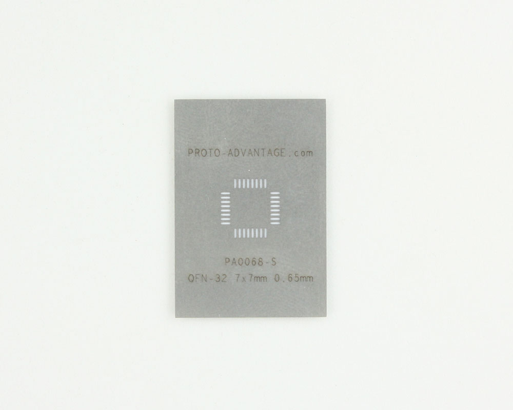 QFN-32 (0.65 mm pitch, 7 x 7 mm body) Stainless Steel Stencil 0