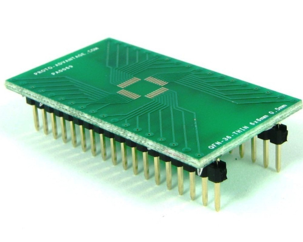 QFN-36-THIN to DIP-36 SMT Adapter (0.5 mm pitch, 6 x 6 mm body) 0