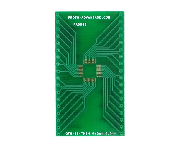QFN-36-THIN to DIP-36 SMT Adapter (0.5 mm pitch, 6 x 6 mm body) 2