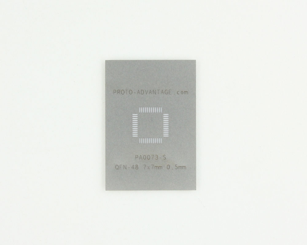QFN-48 (0.5 mm pitch, 7 x 7 mm body) Stainless Steel Stencil 0