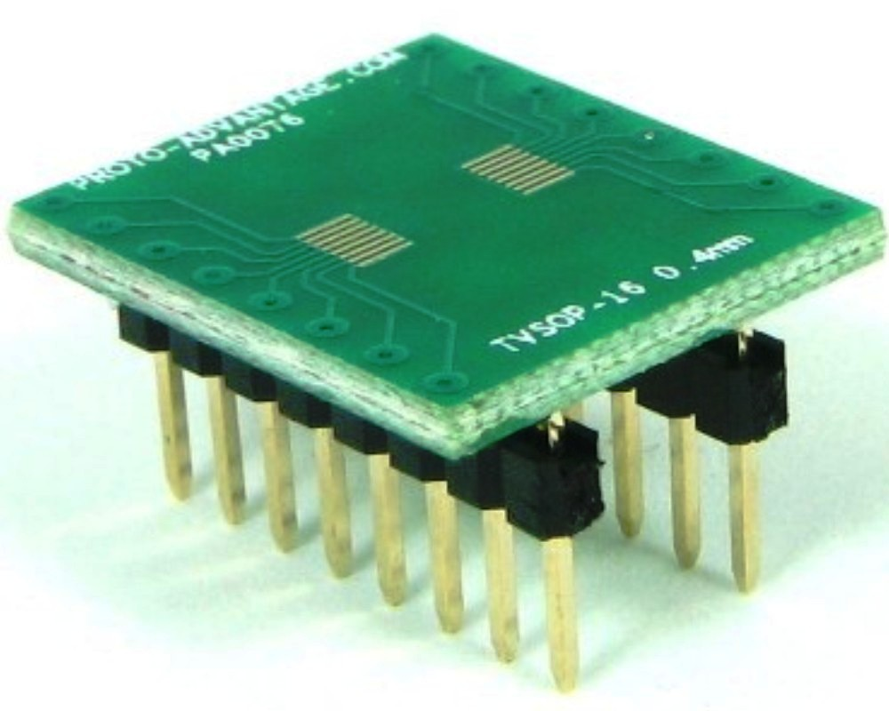 TVSOP-16 to DIP-16 SMT Adapter (0.4 mm pitch) 0