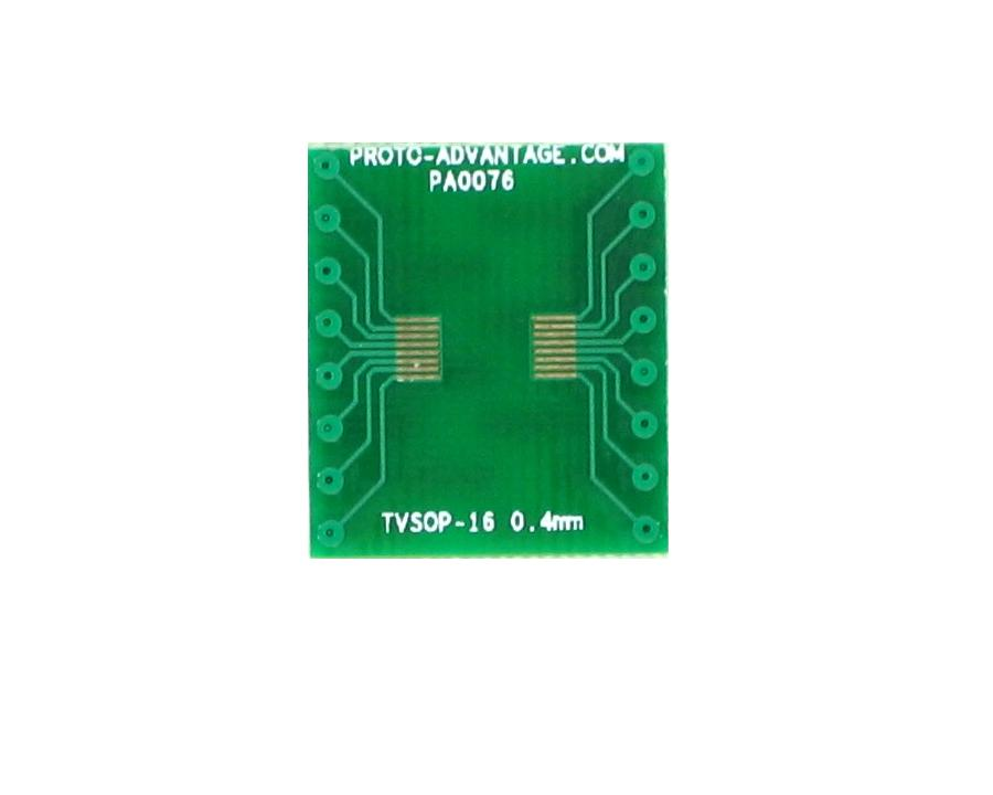 TVSOP-16 to DIP-16 SMT Adapter (0.4 mm pitch) 2