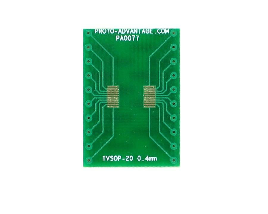 TVSOP-20 to DIP-20 SMT Adapter (0.4 mm pitch) 2