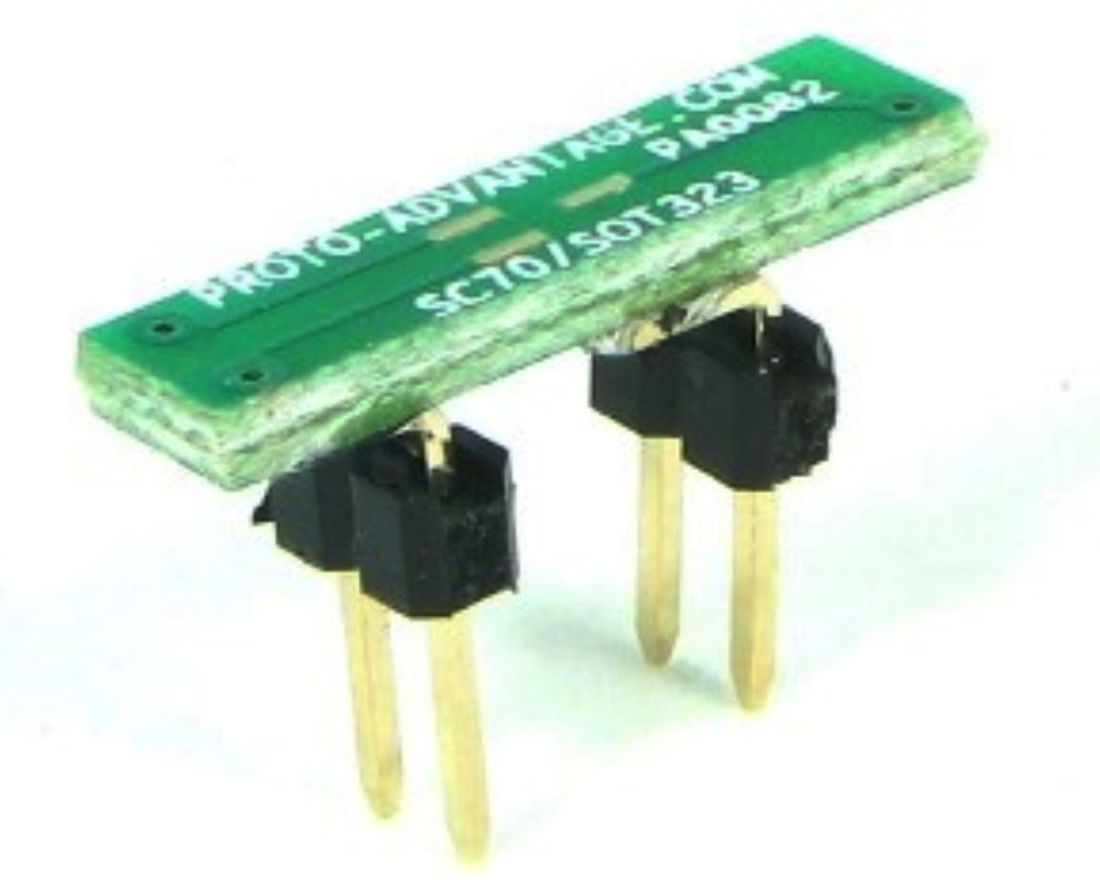 SC70-3 to DIP-4 SMT Adapter (0.65 mm pitch) 0