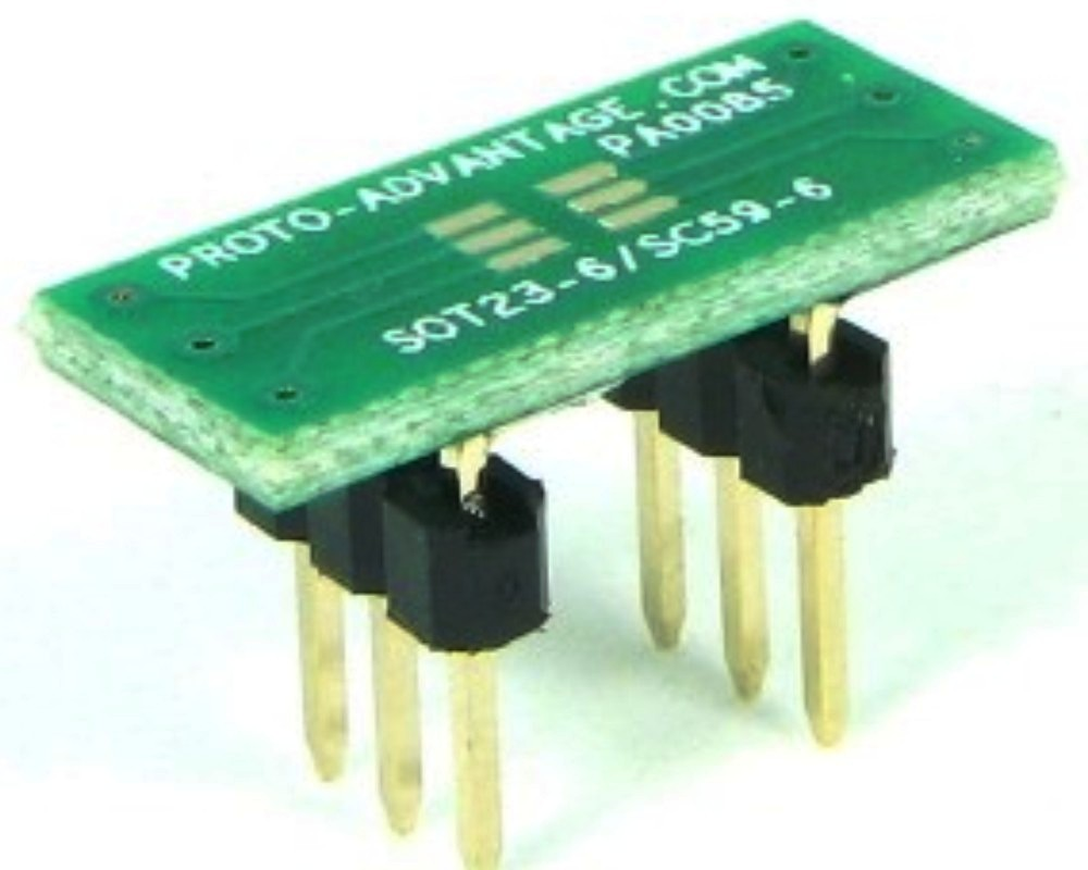 SOT23-6 to DIP-6 SMT Adapter (0.95 mm pitch) 0