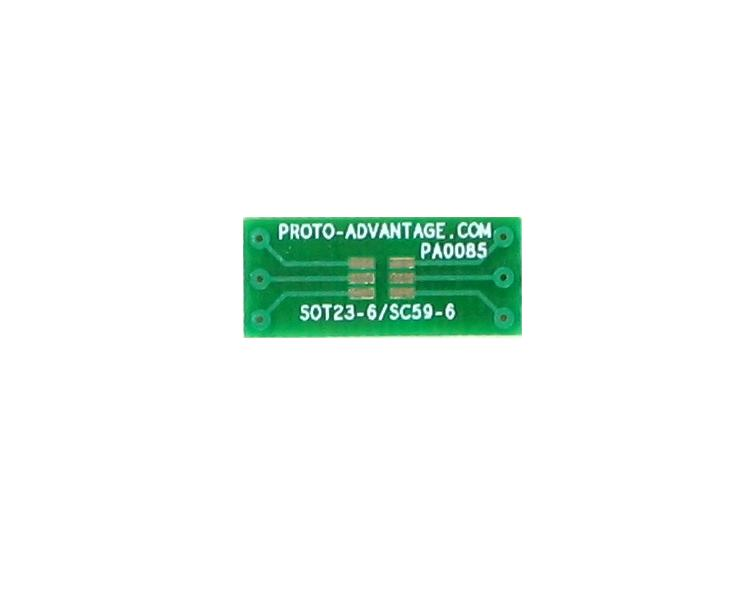 SOT23-6 to DIP-6 SMT Adapter (0.95 mm pitch) 2