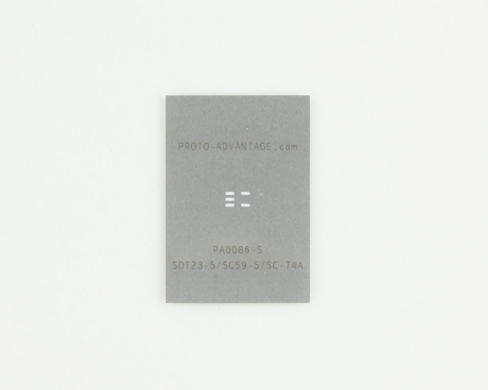SOT23-5 (0.95 mm pitch) Stainless Steel Stencil 0