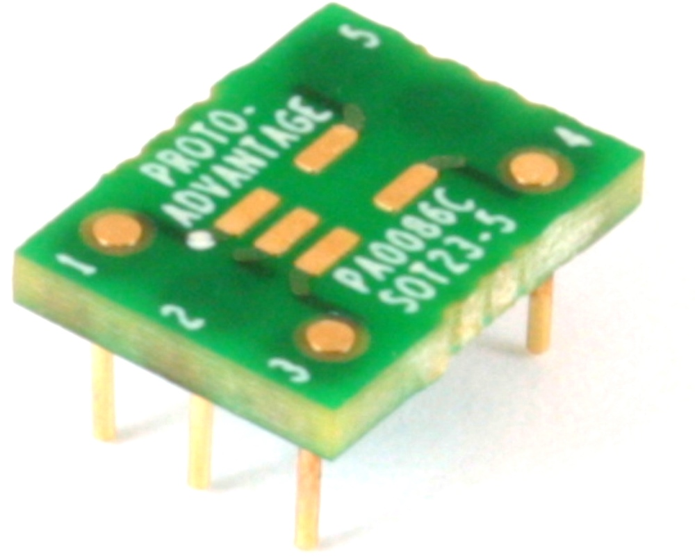 SOT23-5 to DIP-6 SMT Adapter (0.95 mm pitch) Compact Series 0