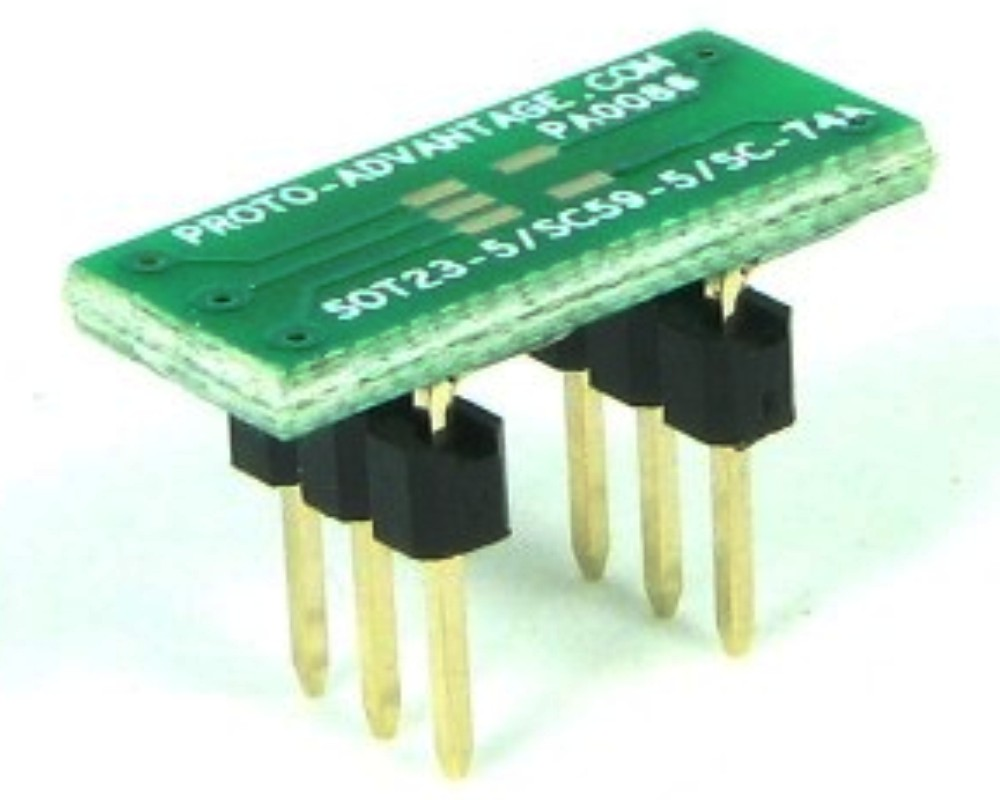 SC59-5 to DIP-6 SMT Adapter (0.95 mm pitch) 0