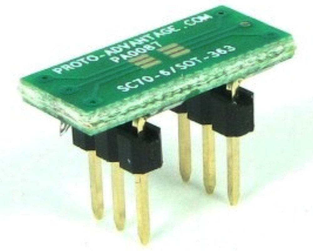 SC70-6 to DIP-6 SMT Adapter (0.65 mm pitch) 0