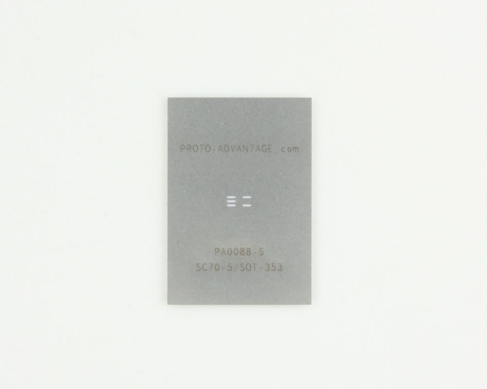 SC70-5 (0.65 mm pitch) Stainless Steel Stencil 0