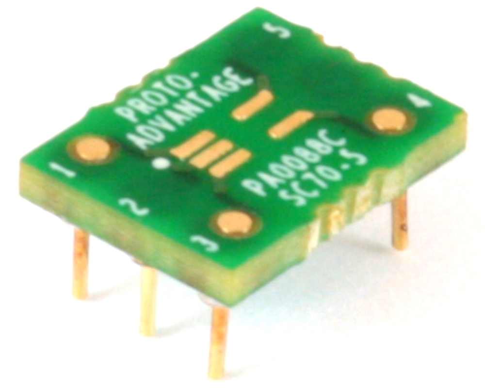 SC70-5 to DIP-6 SMT Adapter (0.65 mm pitch) Compact Series 0