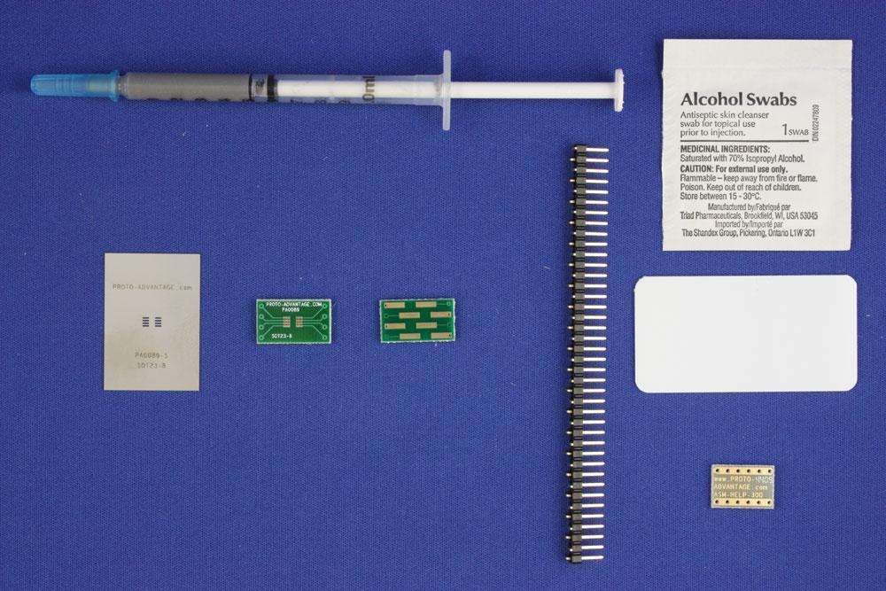 SOT23-8/TSOT-8 (0.65 mm pitch) PCB and Stencil Kit 0