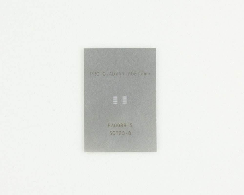 SOT23-8/TSOT-8 (0.65 mm pitch) Stainless Steel Stencil 0